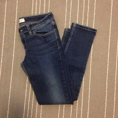 Levis Demi curve skinny jeans Super stretchy Levi's Demi curve straight leg jeans. Minimal signs of wear on the bottom. These are a 9s (short). I wear a 6/8 petite and these fit me great. All pants in my closet are BOGO half off! Levi's Jeans Skinny
