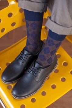 Burlington Hampstead Wool All Over Argyle Socks  £14.00