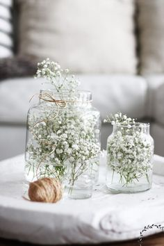 Beautiful vase décor with flowers ♥️ Deco Floral, Arte Floral, Flower Boxes, My Flower, Ikebana, Boho Wedding Decorations, Table Decorations, Deco Jungle, Babys Breath Flowers