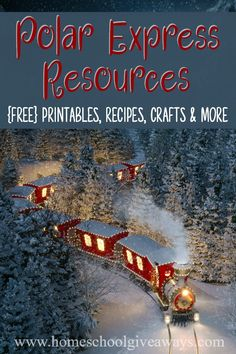 Polar Express Resources: FREE Printables, Crafts, Recipes & More - Homeschool Giveaways Polar Express Party, Polar Express Crafts, Polar Express Christmas Party, Polar Express Activities, Polar Express Train, Childrens Christmas, Preschool Christmas, Christmas Activities, Christmas Themes