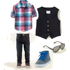 Little boy outfit with a vest