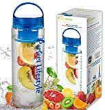 #2: iPerfect Lifestyle Infuser Water Bottle  Made with Commercial Grade Tritan  Recipe Ebook INCLUDED