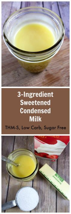 Need a condensed milk without all the sugar? This one is suitable for keto and low carb, Sugar Free Sweetened Condensed Milk Sugar Free Desserts, Sugar Free Recipes, Dessert Recipes, Keto Desserts, Milk Recipes, Fudge Recipes, Cream Recipes, Easy Desserts, Low Carb Deserts