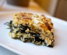 Grøn lasagne med spidskål og ramsløg