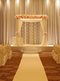 Simple Wedding Stage Decoration At Home Wedding Ceremony Ideas, Desi Wedding Decor, Wedding Hall Decorations, Marriage Decoration, Wedding Mandap, Backdrop Decorations, Wedding Themes, Wedding Designs, Backdrop Ideas