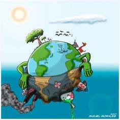 Items similar to Mother Earth – Go Green – Earth Day, Every Day on Etsy Save Planet Earth, Save Our Earth, Love The Earth, Earth Day, Image Triste, Save Earth Posters, Cartoons Magazine, Earth Drawings, Poster Drawing