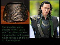 Loki costume details.