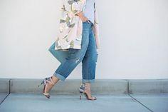 Styling-Tipp für schlankere Beine: High Heels und gekrempelte Hose