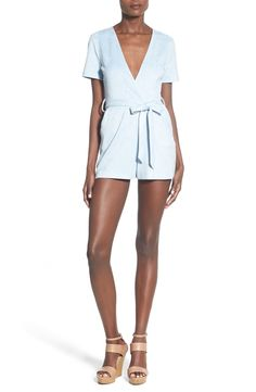 9c82c75bacf Missguided Plunge Faux Suede Romper