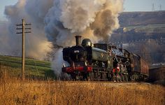 Drama At Oakworth Mound #flickr #train #steam #engine-love steam engines!