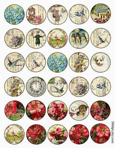 and 2 inch circle images round Vintage Printable door Bottle Cap Art, Bottle Cap Crafts, Bottle Cap Images, Printable Images, Printable Stickers, Papel Vintage, Etiquette Vintage, Images Vintage, Motifs Animal