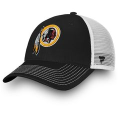 0b79e57d1 Washington Redskins NFL Pro Line by Fanatics Branded Core Trucker III  Adjustable Snapback Hat - Black White