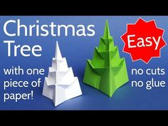 Make an Easy 3D Origami Christmas Tree with 1 Piece of Paper! - YouTube