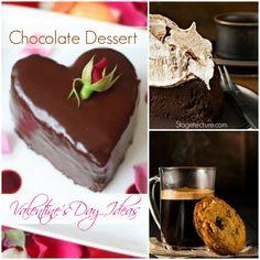 Chocolate desserts - Our best Valentine's Ideas. #ValentinesDay #desserts #recipe