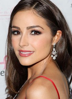 Close-up of Olivia Culpo on the red carpet at the Date For The Cure To Benefit Susan G. Komen For The Cure.