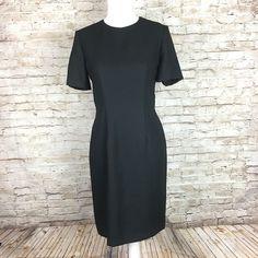 Talbots Kathryn Conover womens solid black sheath Dress Sz 6P petite formal  knee 190d97ca05d1