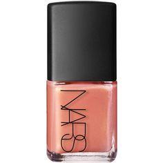 Nars Nail Polish in Orgasm Shimmer Peachy Pink ($22) ❤ liked on Polyvore featuring beauty products, nail care, nail polish, nails, beauty and nars cosmetics