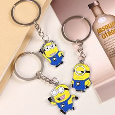 1 stks Gratis verzending Despicable Me Sleutelhanger Cartoon Minions Sleutelhanger Sleutelhanger Chaveiro best gift Minions Fans, Despicable Minions, Cute Minions, Minion Doll, Minion Gifts, Minion Rush, Jewelry Sets, Jewelry Accessories, Gadgets