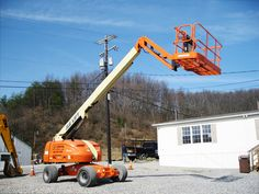 Jlg manlift is perfect for any heavy lifting application, masonry work, setting roof trusses, loading or unloading trucks, and many other applications. available @ aayag.com
