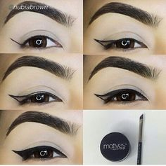 How to pass eyeliner- Como passar delineador how to pass eyeliner - Eyeliner Hacks, Eyeliner Styles, How To Apply Eyeliner, Winged Eyeliner, Eyeliner Pencil, Eyeliner Liquid, Brown Eyeliner, Kajal Pencil, Eyeliner For Beginners