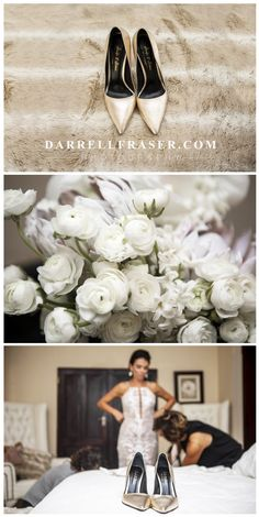 South African Award Winning Wedding Photographer Darrell Fraser #bride #weddingshoes #bouquet #wedding #photographer #gold