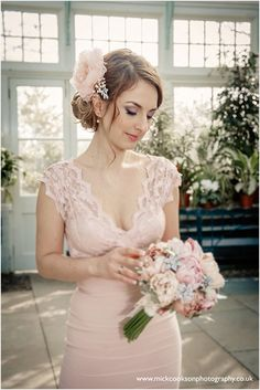 This Bridal bouquet 'Forever Spring features Peonies totally handmade from 100% silk dupioni in shades of pink