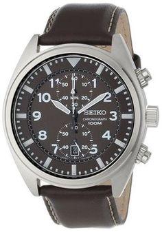 Seiko Seiko Core SNN241 Chronograph Men's Brown Leather Watch