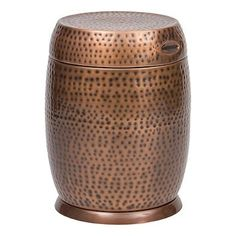 Created for outdoor use, the beautiful Madras Drum Outdoor Side Table from #Bombay is sturdy and durable, yet makes a stylish addition to your patio or backyard....