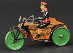 MARX 'INDIAN' CYCLE WITH SIDECAR : Lot 1018