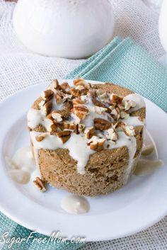 Sugar Free Coffee Toffee Mug Muffin- low carb, grain free, gluten free, -http://sugarfreemom.com