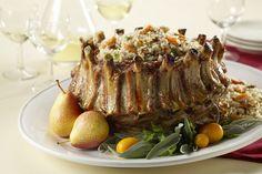 recipes magazine: Rice-Stuffed Pork Crown Roast