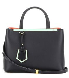 FENDI 2Jours Petite Leather Tote. #fendi #bags #shoulder bags #hand bags #leather #tote #lining #