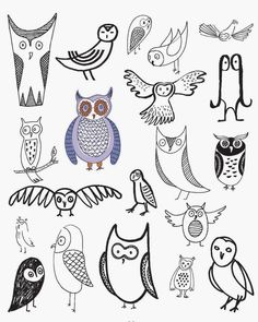Craftside: 20 Ways to Draw an Owl to Get You in the Back-to-School Mood
