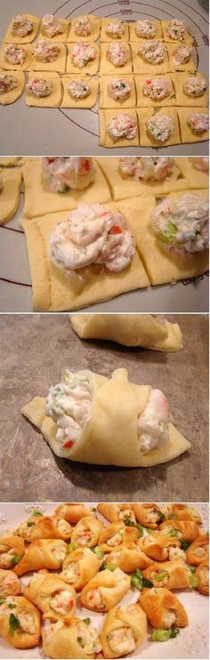 Crab Filled Crescent Wontons Recipe
