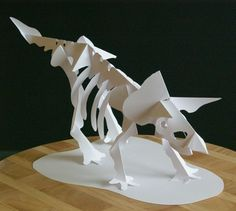 Kirigami Triceratops Skeleton, Make Yourself