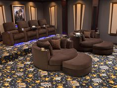 The Seatcraft Cuddle Seat Is A Home Theater Seats In The Signature Series  That Exudes Comfort On A Grand Scale.