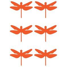 Muursticker Juffer Neon Oranje