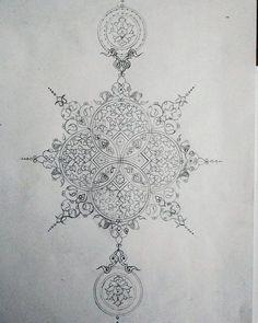 #تذهیب #ترنج  طراحی زیبا اثر هنرجوی عزیز سرکار خانم مهذب