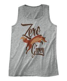Gray Zero Fox Given Boyfriend Tank