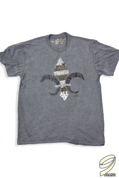 """Our special edition """"ALL IN"""" tee in heather gray.  With a tri-blend material, great fit and 9% of proceeds going to the Brees Dream foundation, what's not to love?  Visit ninebrand.com to get yours!"""