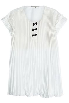Pleated Crepe Top with Bows | Marco de Vincenzo