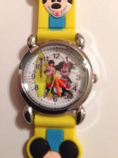 New Yellow Mickey Mouse Minnie Mouse Boys/ Girls Watch 3-D #CartoonIdol