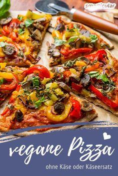 Lust auf Gemüsepizza? Dieses Rezept beweist, dass vegane Pizza auch ohne Käse-Ersatz auskommt und mindestens genauso gut schmeckt wie das Original.