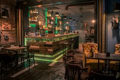 Steampunk Joben Bistro Pub inspired by Jules Verne's fictional stories in Cluj by 6sense architects