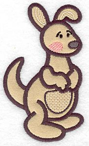 Kangaroo applique | Applique Machine Embroidery Design or Pattern