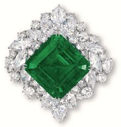 Harry Winston's Flawless Emerald Brooch    #emerald #pantone #color #year