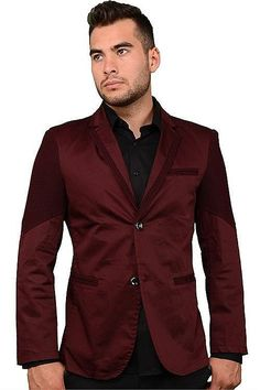 PLATINI 4076 BLAZER BURGUNDY S - ARZEL This casual slim fit blazer was made to be versatile and stylish. This modern style blazer was made in a rich burgundy color so it will be sure to make you stand out in the best of ways. Staying true to the slim fit stye, it fits slim along the sides and arms and a short cut to show of your jeans more.