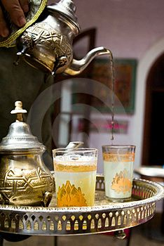 Tea and coffee are very popular in Saudi Arabia when socializing when friends at coffeehouses and entertaining guests at one's home. Saudis drink black tea usually without creamer.(Picture taken from dreamstime.com, a royalty-free, stock photo website)