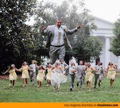 La foto de bodas más original.