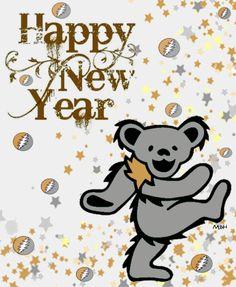 2017 Grateful Dead Image, Grateful Dead Live, Grateful Dead Dancing Bears, Forever Grateful, Hippie Peace, Hippie Love, New Year Art, Dead And Company, Queen Of Spades